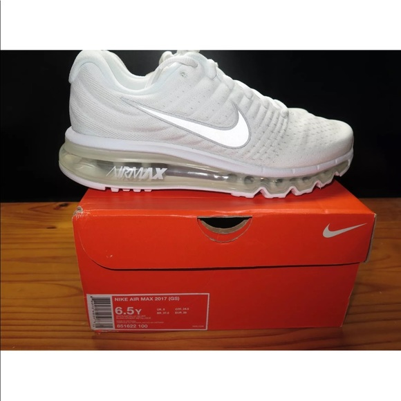 Nike Air Max 2017 GS White Size 6.5Y Size 8 Women e250e9ee97a3